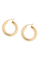 Dominique Hoop Earrings in Gold thumbnail