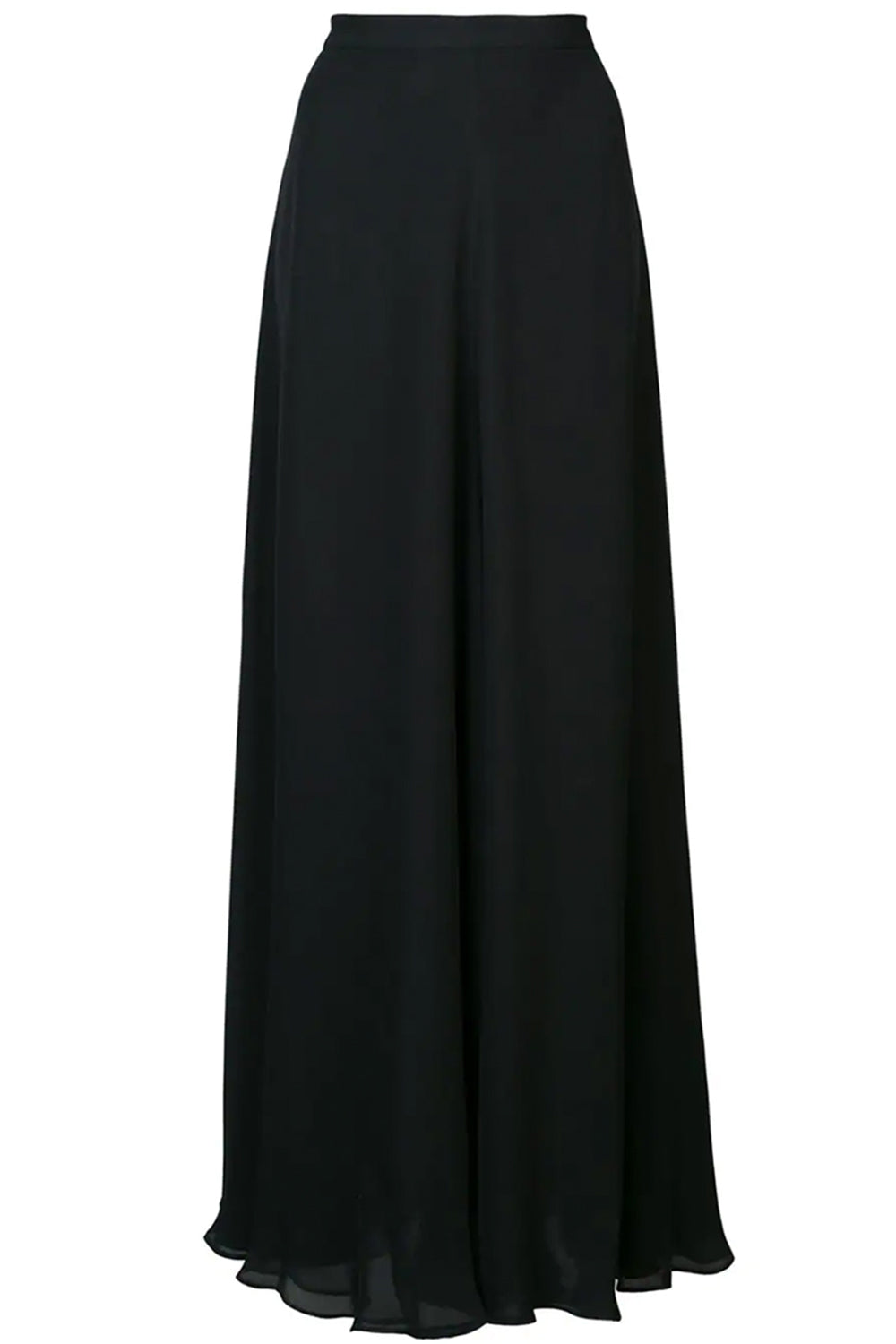 Double Layer Chiffon Skirt in Black