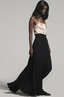 Double Layer Chiffon Skirt in Black thumbnail