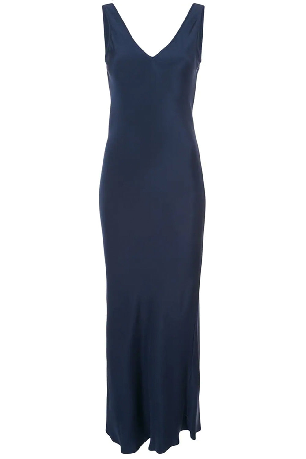Double V Neck Dress in Navy