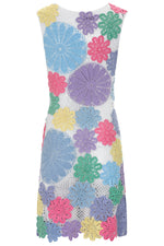 Lea Dress In Multicoloured Crochet thumbnail