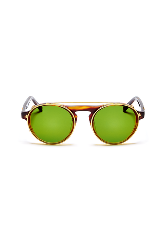 Dyad 3 Frame with Copper Lenses & Honey Aluminum Inlay