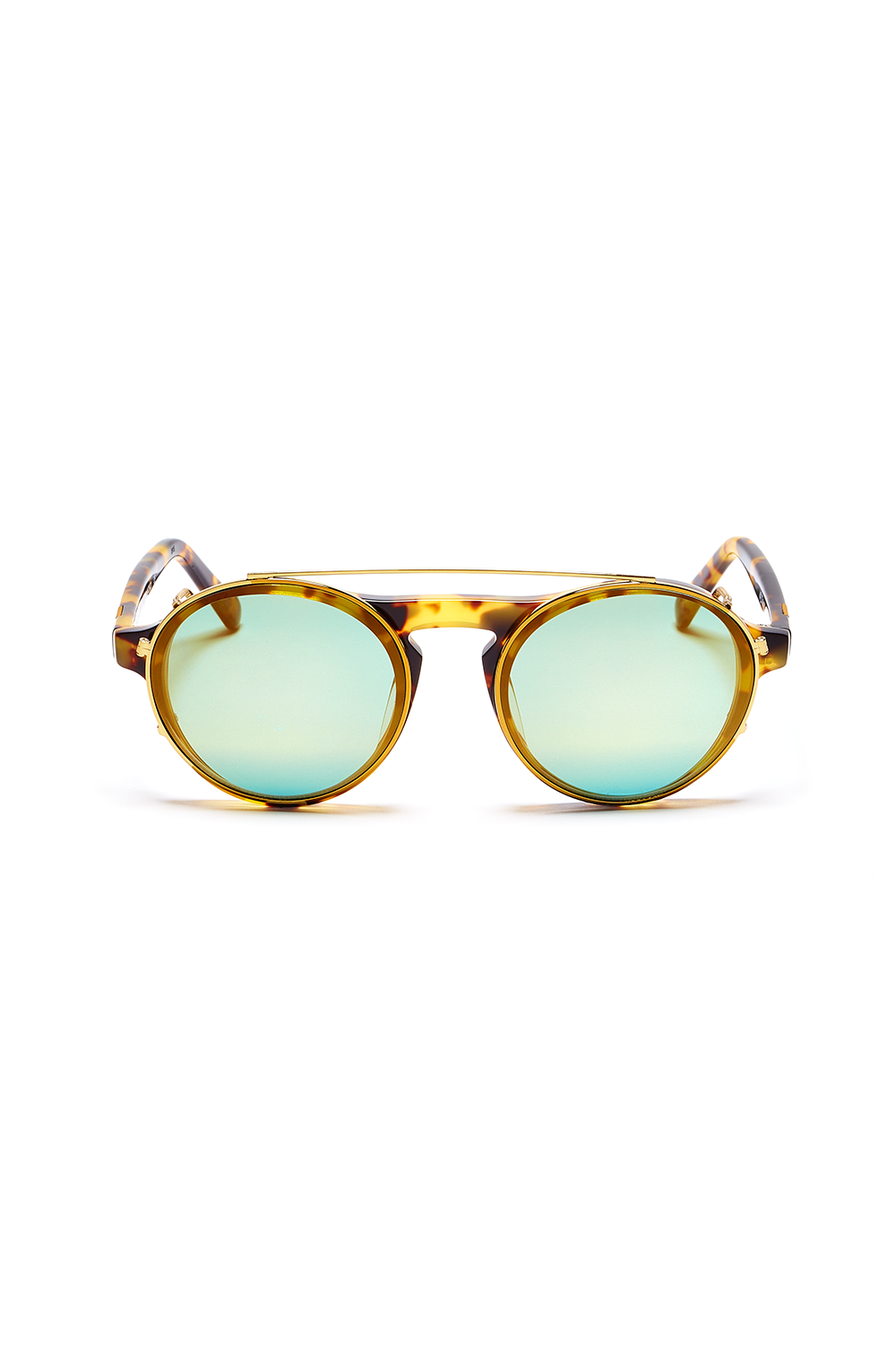 Dyad 6 Frame with Golden Aqua Lenses & Honey Aluminum Inlay