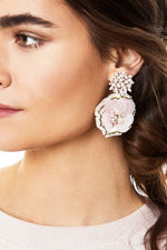 Marnie Earrings in Blush Olive thumbnail