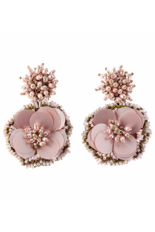 Marnie Earrings in Blush Olive