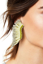 Raffia Madeline Earrings in Eucalyptus thumbnail