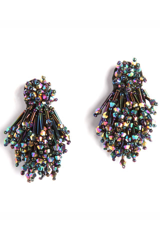 Burst Earrings in Oil Slick