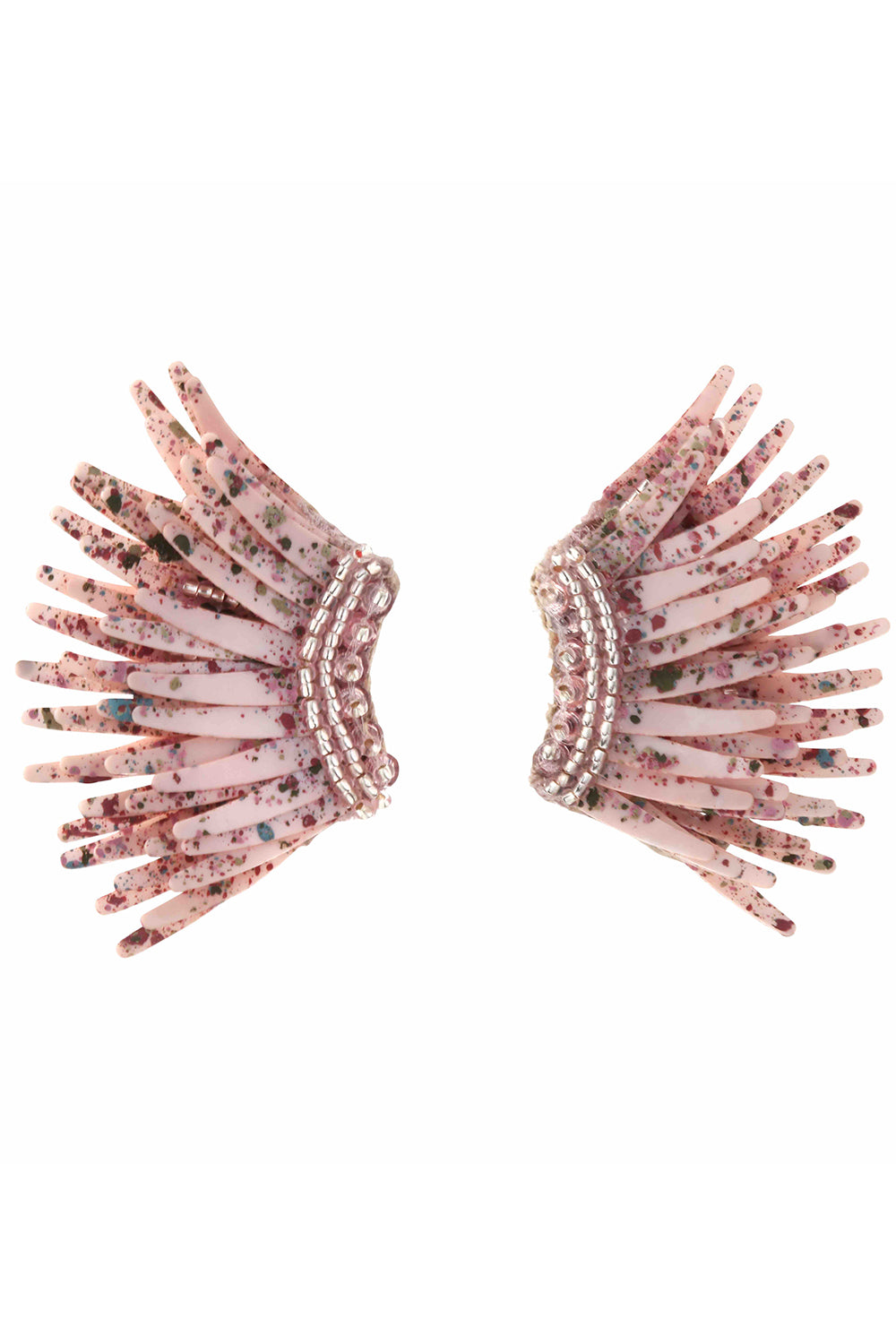 Paintsplatter Mini Madelines Earrings in Blush