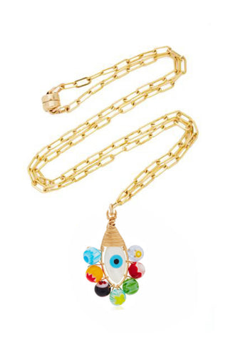 Millefiori Evil Eye Necklace