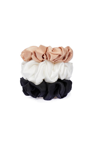 Organic Peace Silk Hair Scrunchies - Set of Three