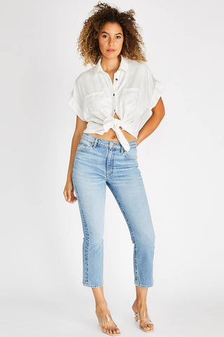 Brigitte Midrise Crop Jean in Vintage Light