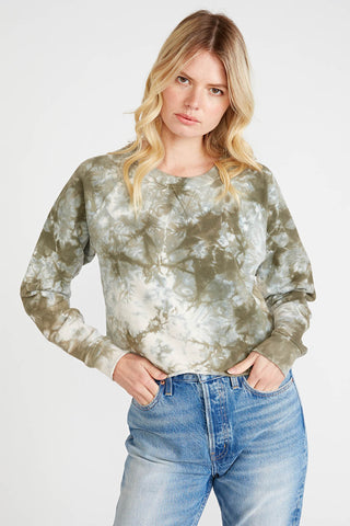 Yara cutoff sweatshirt in Surplus Tie Dye