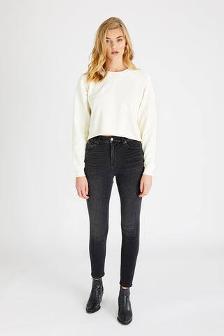 Giselle High Rise Skinny Jeans in Loved Black