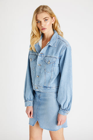 Lauryn Jacket in Ice Blue Indigo