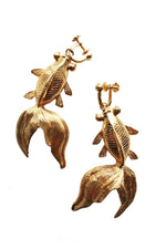 Gold Fish Earrings thumbnail