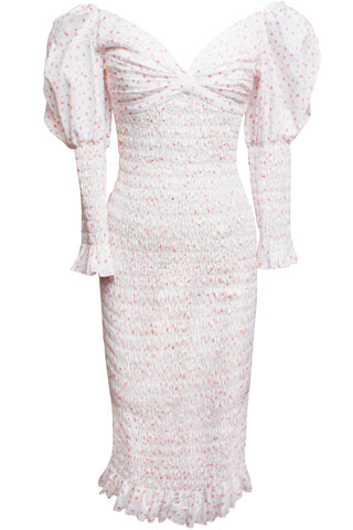 Edurne Dress in Pink Carnation Print