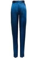 Elena Slim Leg Trousers in Teal Blue thumbnail