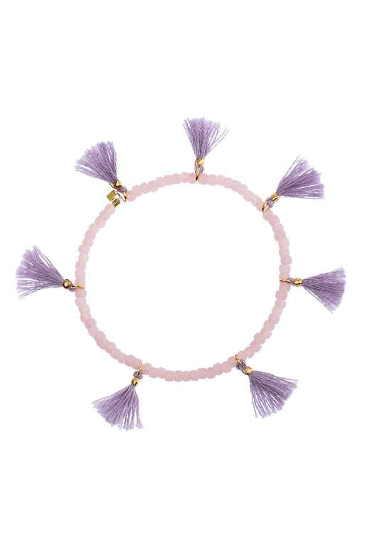 Elle Stretch Bracelet in Lilac