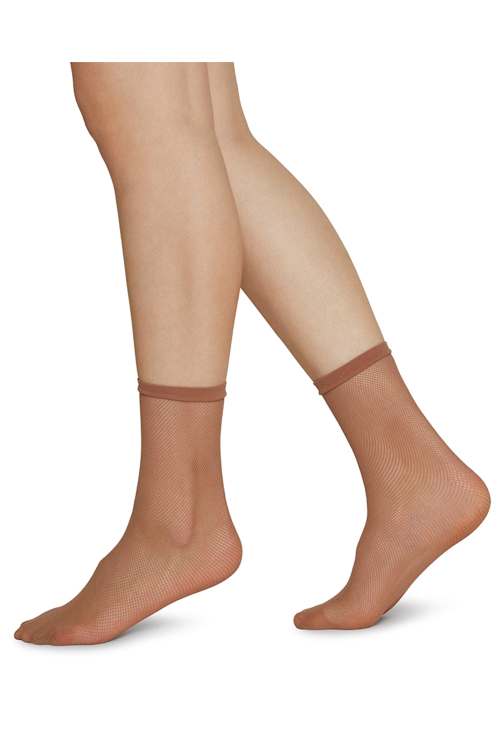 Elvira Net Socks in Caramel