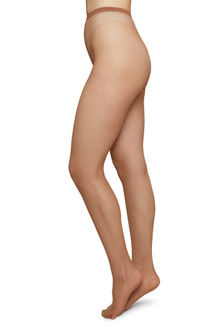 Elvira Net Tights in Caramel