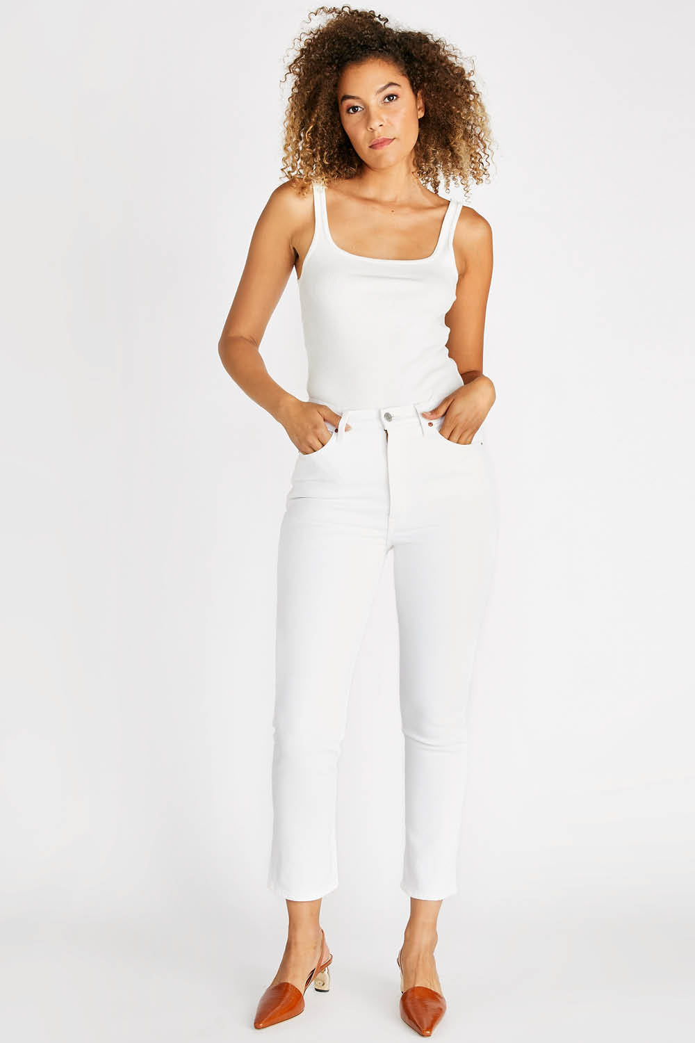 Finn Slim Straight in Sustainable White