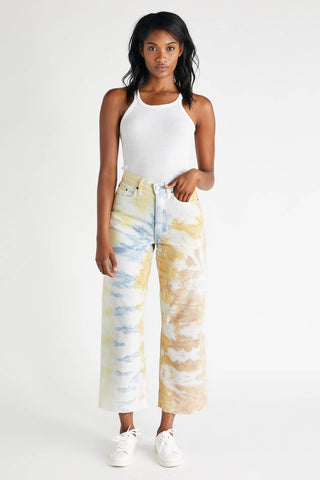 Devon Crop in Botanical Tie Dye