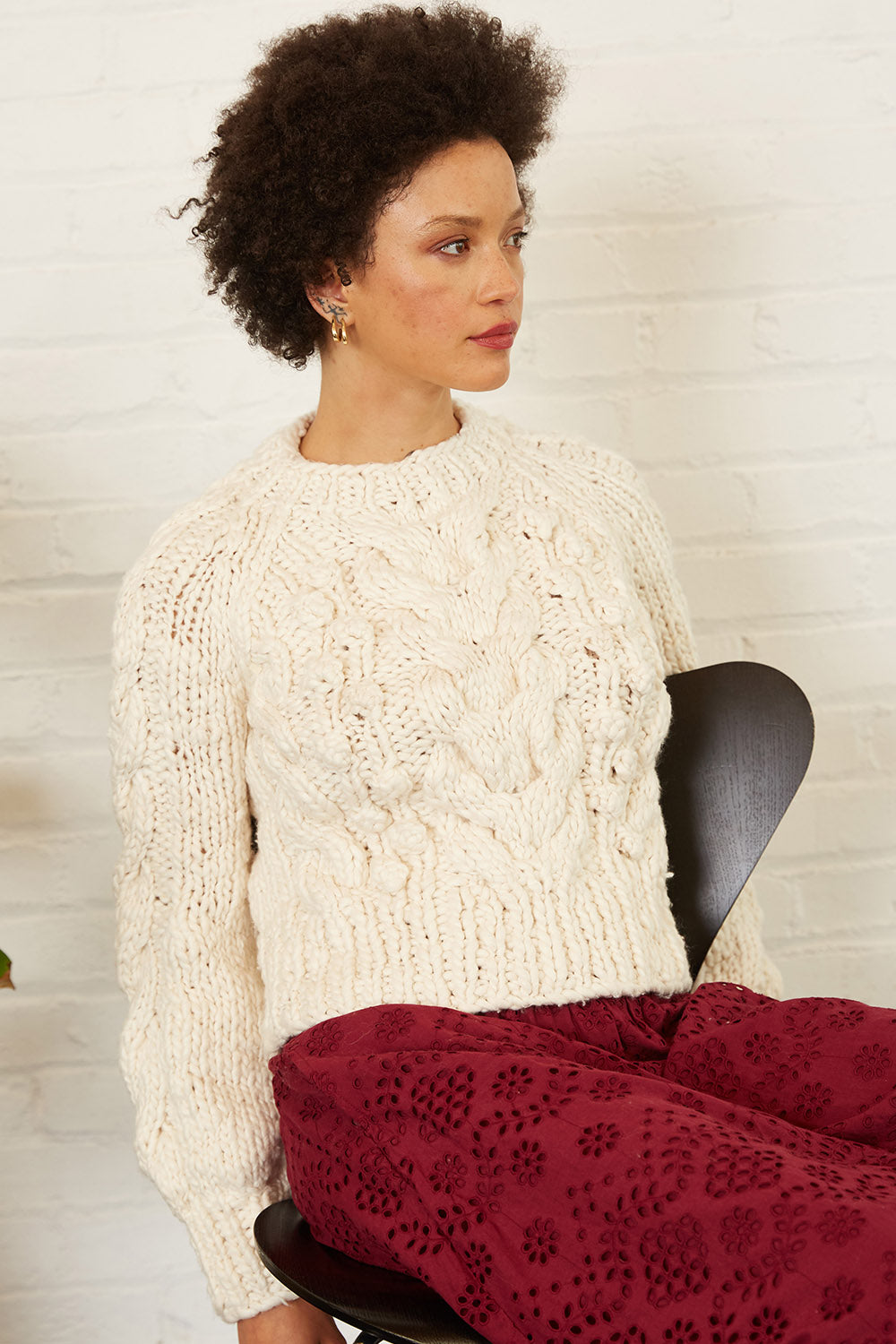 Lily Sweater in Ivory