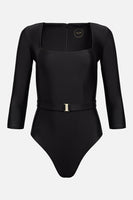 The Square Silhouette Swimsuit in Onyx thumbnail