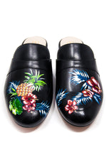 Black Mule with Handpainted Fruits thumbnail