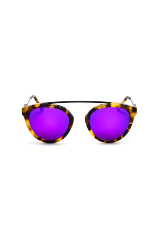 Flower 3 Frame with Violet Lenses & Super Silver Inlay