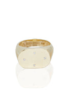 Four Diamond Gold Signet Ring thumbnail