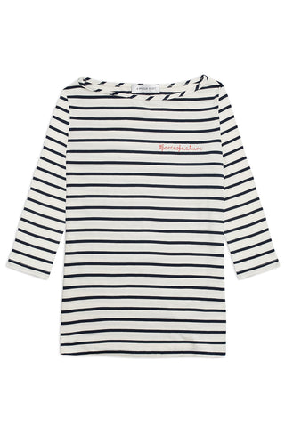 #forceofnature Francoise Top in Marine Stripe