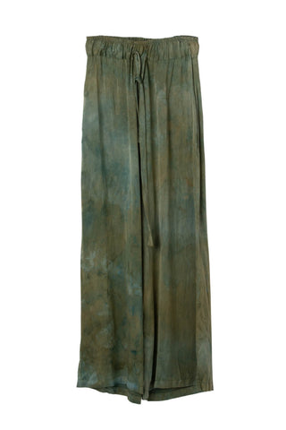 Frida Wide Leg Pant in Moss Fields