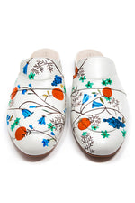 White Mule with Handpainted Grapes and Flowers thumbnail