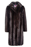 Mink Car Coat in Mahogany thumbnail
