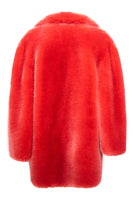 Fox Oversized Peacoat in Salmon Orange thumbnail