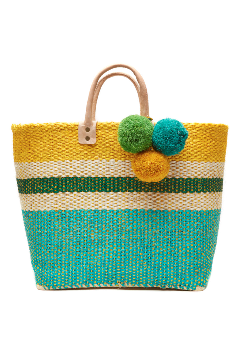 Hana Tote in Aqua & Sunflower