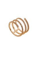 Harmonic Coil Ring in Pink Gold with Champagne Diamonds thumbnail