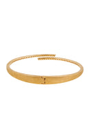 HARMONIC Hinge Bangle in Yellow Gold with White Diamonds thumbnail