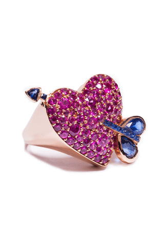 Cupid's Arrow Heart Ring