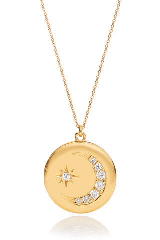 Heather Gold Star Moon Locket