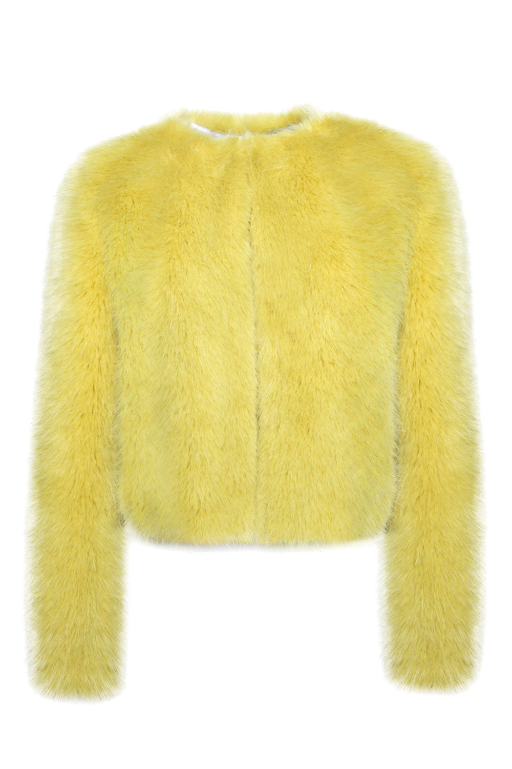 Cropped Fox Jacket in Celadon