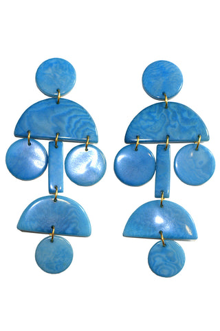 Chandelier Earrings in Blue