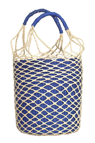 Net Bucket Bag in Blue