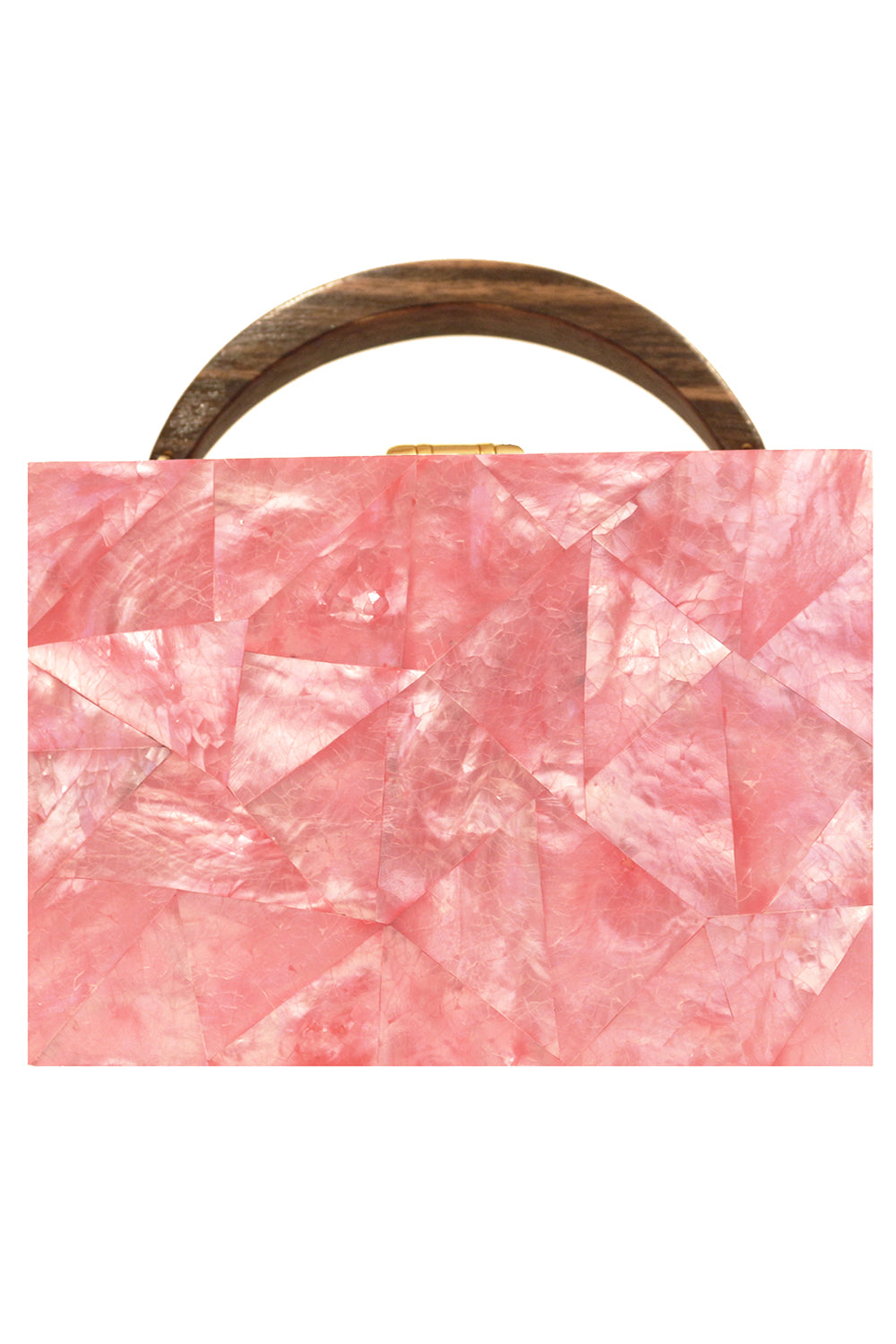Lunch Box Clutch in Pink Mother of Pearl