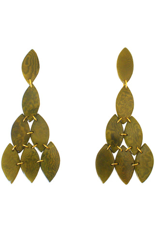 Oliva Earrings in Green