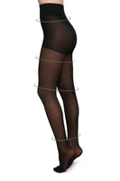 Irma Support 30 Denier Tights in Black thumbnail