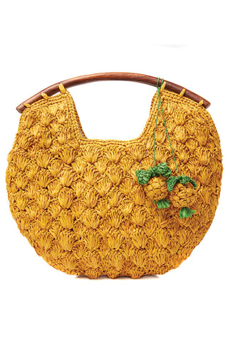 Isla Clutch in Sunflower Yellow