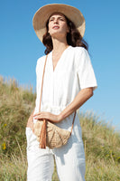 Zoe Shoulder Purse in Natural thumbnail