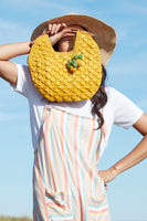 Isla Clutch in Sunflower Yellow thumbnail